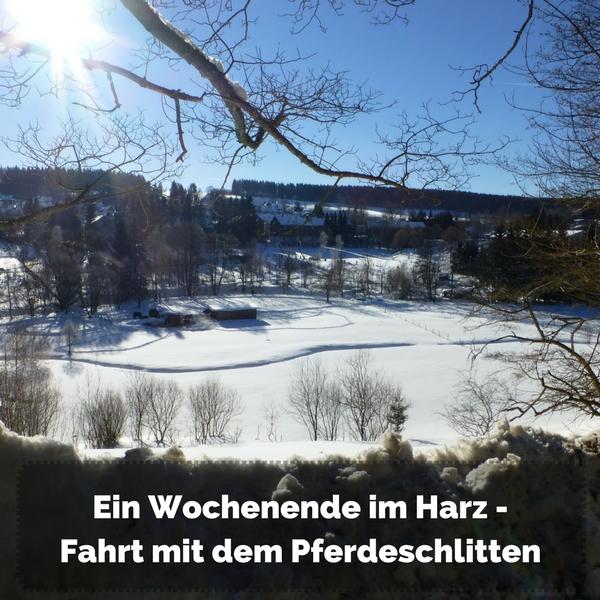 Das Bild zeigt einen Blick in ein verschneites Tal