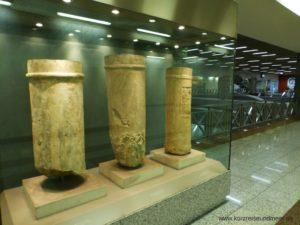 Das Bild ist von meiner Mittelmeer-Kreuzfahrt und zeigt Fundstücke am Athener U-Bahnhof Syntagma