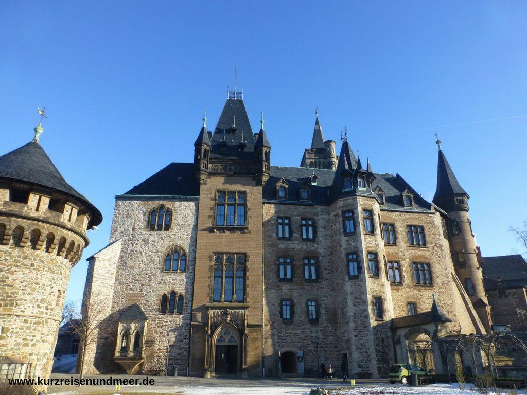 Das Bild zeigt das Schloss Wernigerode im Harz.