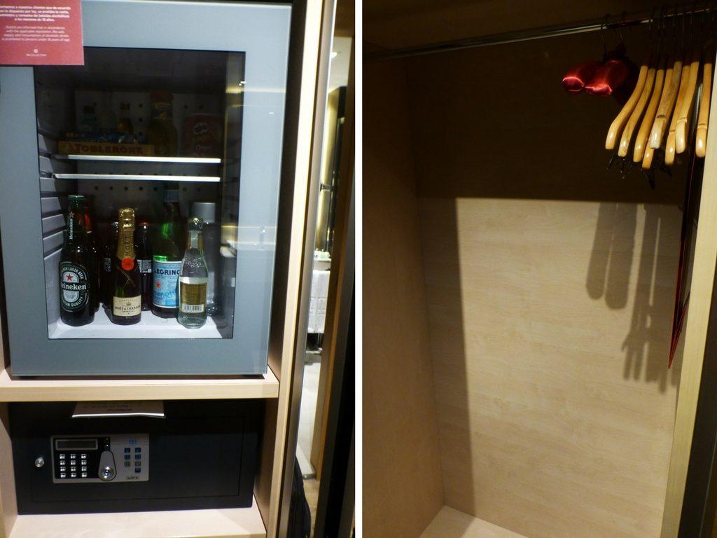 Schrank in meinem Zimmer des NH Collection San Sebastian Aranzazu in Donostia - San Sebastian, Spanien