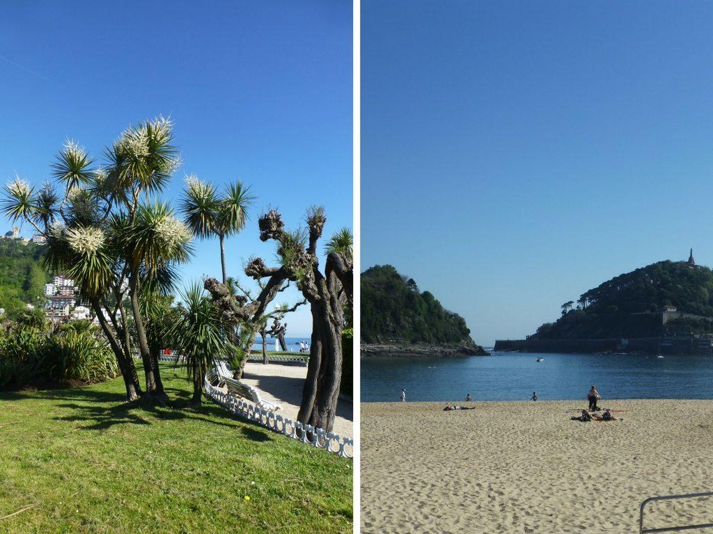 Der Strand Ondaretta in der Nähe des NH Collection San Sebastian Aranzazu in Donostia - San Sebastian, Spanien