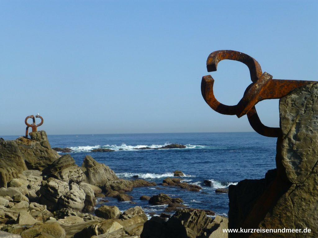 Die Windkämme am westlichen Ende von Donostia - San Sebastián