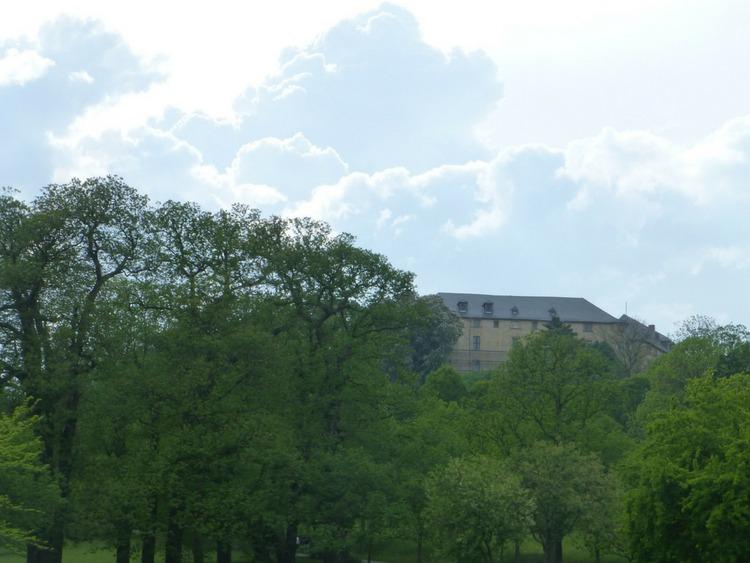 Blick auf das Große Schloss der Barocken Gärten Blankenburg