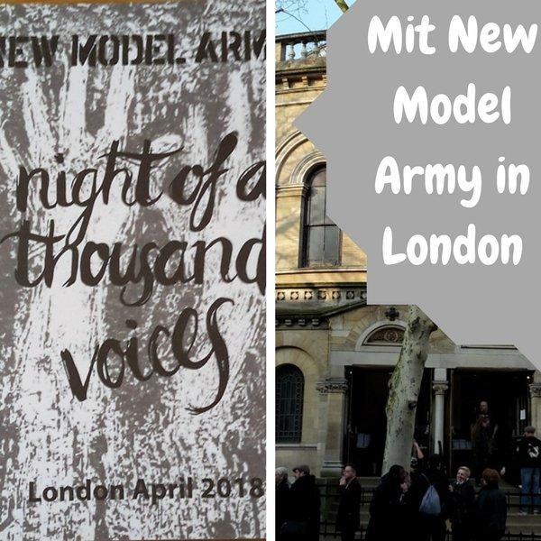 Warst Du schon einmal für ein Konzert im Ausland? Ich bin neulich für ein new Model Army Konzert nach London geflogen!