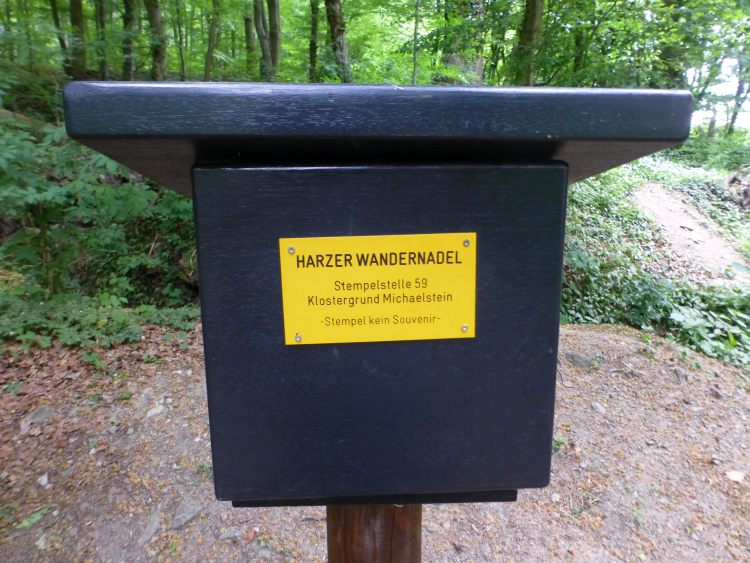 Stempelstelle 59 der Harzer Wandernadel