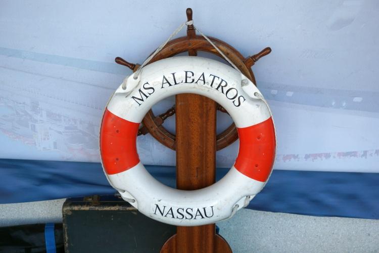 Rettungsring auf der MS Albatros