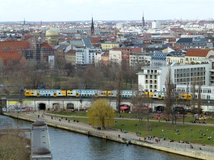 Blick auf die Innenstadt von Berlin