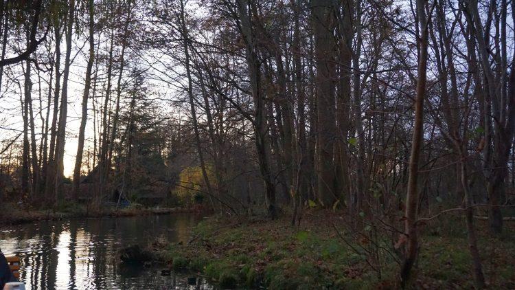 Kanal am Abend im Spreewald