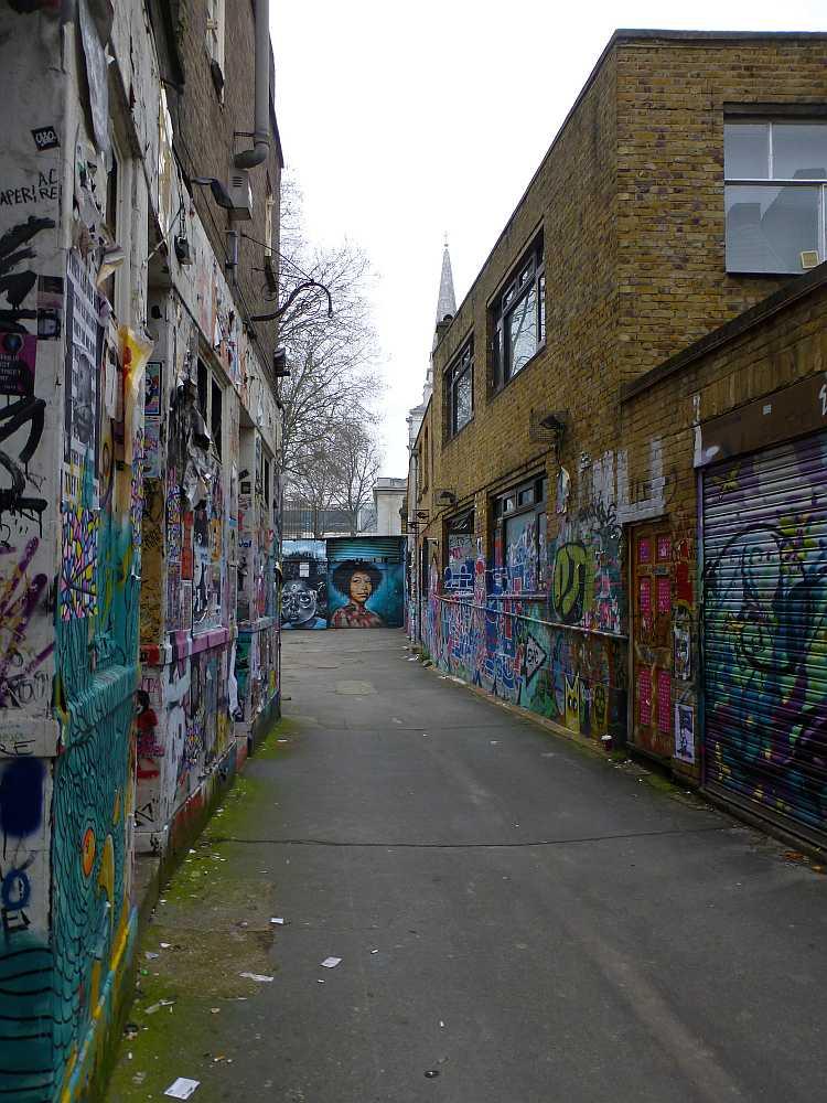 Blick in die Lane zum ehemaligen Seven Stars Yard