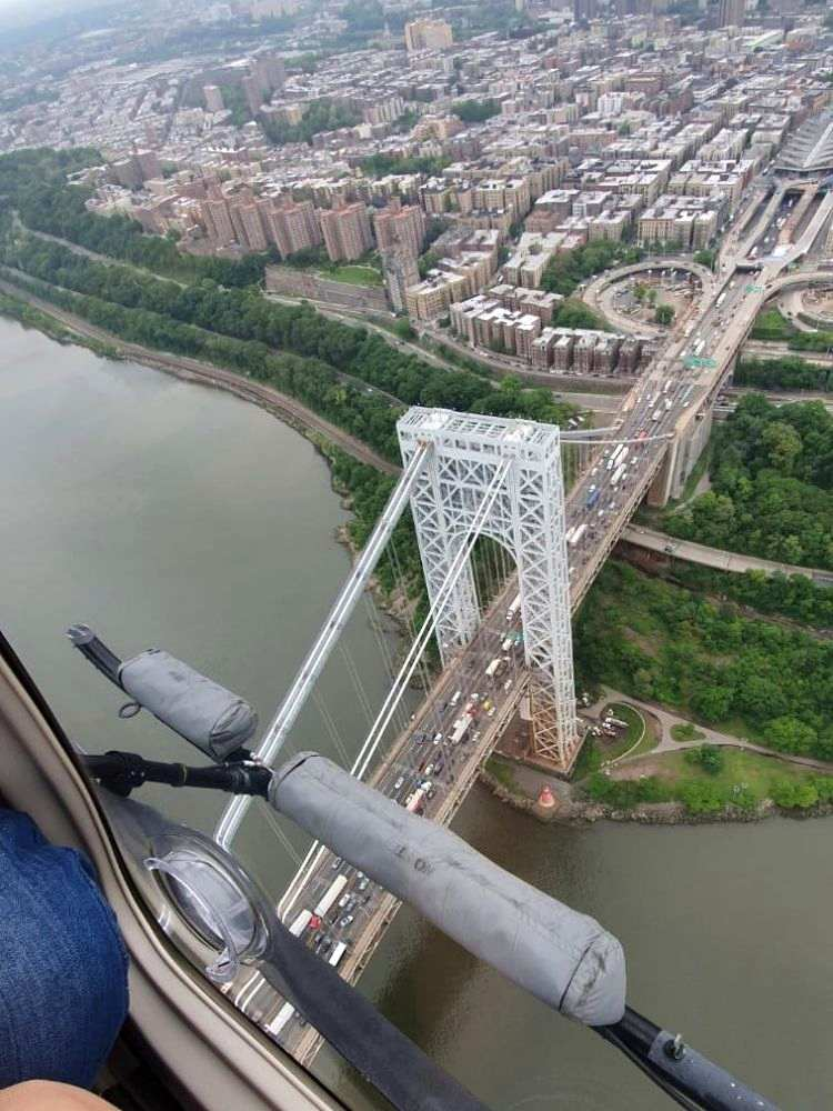 Blick auf New York vom Hubschrauber aus